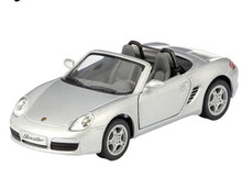 Porsche Boxster S Convertible Kinsmart Diecast 1:34 Scale Silver FREE SHIPPING