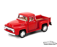 1956 Ford F-100 Pickup KINSMART. Diecast 1:38 Scale Red KT5385D FREE SHIPPING
