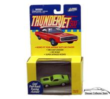 Johnny Lightning Thunderjet 500 Dodge Challenger HO Scale Green Adapts to Slot
