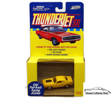 Johnny Lightning Thunderjet 500 Dodge Challenger HO Scale Yellow Adapts Slot Car