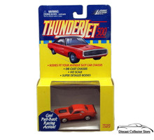 Johnny Lightning Thunderjet 500 Dodge Challenger HO Scale Orange Adapts Slot Car