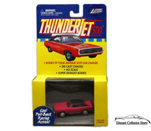Johnny Lightning Thunderjet 500 Dodge Charger HO Scale Pink Adapts Slot Car