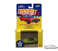 Johnny Lightning Thunderjet 500 Dodge Charger HO Scale Green Adapts Slot Car