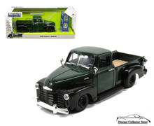 1953 Chevy Pickup w/ Extra Wheels JADA JUST TRUCKS Diecast 1:24 Green & Black