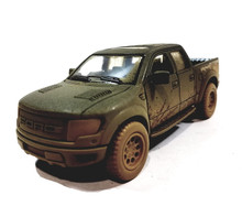 Ford F-150 SVT Raptor Super Crew Cab Pickup KINSMART Diecast 1:46 Scale Muddy Black