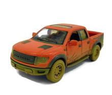 Ford F-150 SVT Raptor Super Crew Cab P/U KINSMART Diecast 1:46 Scale Muddy Red