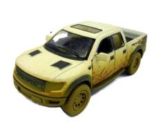 Ford F-150 SVT Raptor Super Crew Cab P/U KINSMART Diecast 1:46 Scale Muddy White