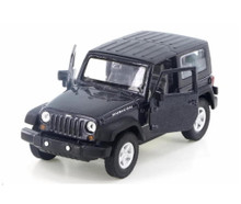 2007 Jeep Wrangle Rubican WELLY Diecast 1:24 Scale Dark Grey