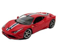 Ferrari 458 Speciale with Blue & White Stripe MAISTO Diecast 1:18 Scale Red