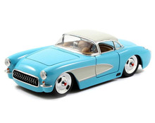 1957 Chevy Corvette JADA BIGTIME MUSCLE Diecast 1:24 Scale Sky Blue