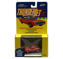 Johnny Lightning Thunderjet Dodge Daytona HO Scale Chrome Adapts Slot Car Red