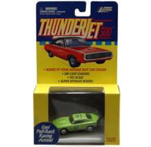 Johnny Lightning Thunderjet 500 Dodge Daytona HO Scale Green Adapts Slot Car Red