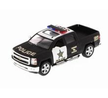 2014 Chevrolet Silveraado Police KINSMART Diecast 1:46 Black/White FREE SHIPPING