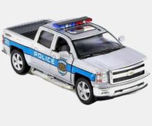 2014 Chevrolet Silverado Police KINSMART Diecast 1:46 Silver FREE SHIPPING