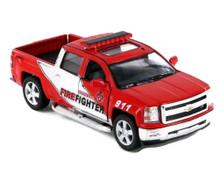 2014 Chevrolet Silverado Firefighter KINSMART Diecast 1:46 Red FREE SHIPPING