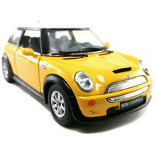 Mini Cooper S KINSMART Diecast 1:28 Scale Yellow FREE SHIPPING