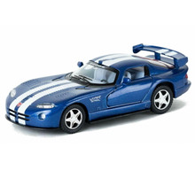 Dodge Viper GTS-R Kinsmart Diecast 1:36 Scale w/Pull Back Action Blue FREE SHIPPING
