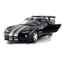 Dodge Viper GTS-R Kinsmart Diecast 1:36 w/Pull Back Action Black FREE SHIPPING