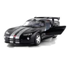Dodge Viper GTS-R Kinsmart Diecast 1:36 w/Pull Back Action Black FREE SHIPPING