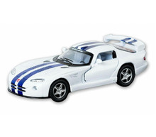 Dodge Viper GTS-R Kinsmart Diecast 1:36 w/Pull Back Action White FREE SHIPPING