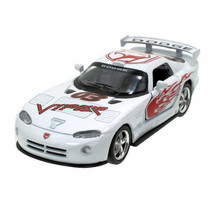 Dodge Viper GTS-R Kinsmart Diecast 1:36 Pull Back w/Graphic White FREE SHIPPING
