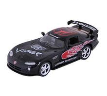 Dodge Viper GTS-R Kinsmart Diecast 1:36 Pull Back w/Graphic Black FREE SHIPPING
