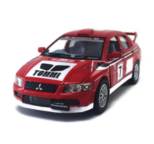 "Mitsubishi Lancer Evolution VII Kinsmart Diecast 5"" Red FREE SHIPPING"