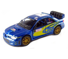 "2007 Subaru Impreza WRC Street Fighter Kinsmart Diecast 5"" Blue FREE SHIPPING"