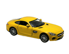 Mercedes AMG GT Kinsmart Diecast 1:36 Scale Yellow FREE SHIPPING