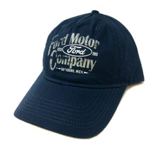 Hat - Ford Motor Company Adjstable Blue Preformed Bill Ball Cap FREE SHIPPING