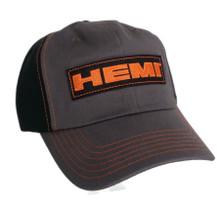 Hat - HEMI Patch Mopar Adjustable Grey & Black Ball Cap Free Shipping