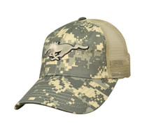 Hat - Ford Mustang Digital Camo Running Horse Mesh Trucker Style FREE SHIPPING