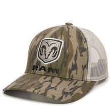 Hat - Ram Camouflage Mesh Vented Adjustable Trucker Cap FREE SHIPPING