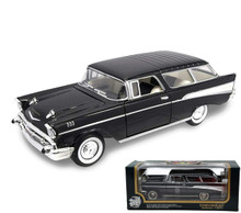 1957 Chevrolet Bel Air Nomad Wagon Road Tough Diecast 1:18 Scale Black