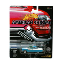 1955 Ford Crown Victoria Johnny Lightning American Chrome Diecast 1:64 Free Ship