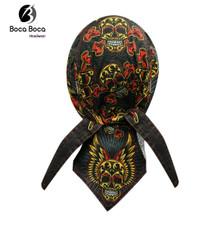 Bandana Headwrap DANBANNA DELUXE Muerte Sugar Tattoo Skull Du-Rag Skull Cap FREE SHIPPING