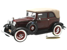FRANKLIN MINT 1932 Ford V8 BONNIE & CLYDE with BULLET HOLES Limited Diecast 1:24