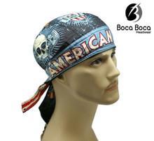 Bandana Headwrap DANBANNA DELUXE American Iron Du-Rag Skull Cap Doo-Rag