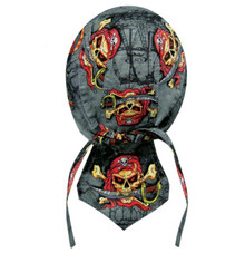 Bandana Headwrap DANBANNA DELUXE Pirate Skull Du-Rag Skull Cap FREE SHIPPING