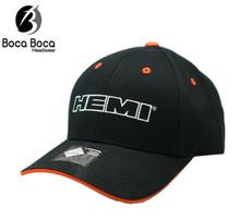 Hat - HEMI Ball Cap Black with Orange Trim Free Shipping