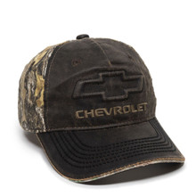 Hat - Chevrolet Realtree Edge Camouflage Brown Ball Cap FREE SHIPPING