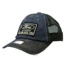 Hat - FORD Established 1903 Pigment Dyed Adjustable Nylon Mesh Back Cap