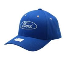 Hat - Ford Logo Cotton Twill Adjustable Royal Blue Ball Cap