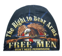 The Right To Bear Arms Free Men Don't Need Permission Sublimation Beanie