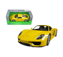 Porsche 918 Spyder WELLY Diecast 1:24 Scale Yellow