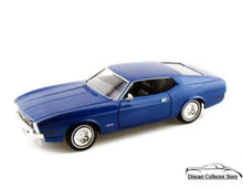 1971 Ford Mustang Sportsroof MOTORMAX Diecast 1:24 Scale Blue