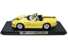 1999 Shelby Series 1  ROAD SIGNATURE Diecast 1:18 Scale Yellow
