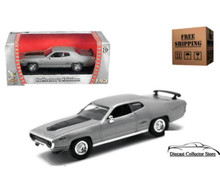 1971 Plymouth GTX  ROAD SIGNATURE Diecast 1:43 Scale Silver FREE SHIPPING