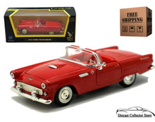 1955 Ford Thunderbird T-Bird ROAD SIGNATURE Diecast 1:43 Red FREE SHIPPING