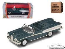 1958 Edsel Citation Convertible ROAD SIGANTURE Diecast 1:43 Green FREE SHIPPING